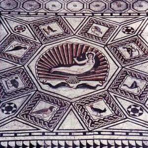 Mosaico  del Nacimiento de Venus, Cártama, Málaga